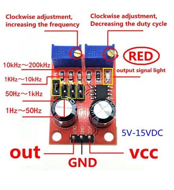 NE555 PWM Pulse Signal Generator