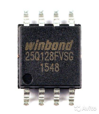 WINBOND W25Q128 Flash Memory Chip 128Mbit 16MB