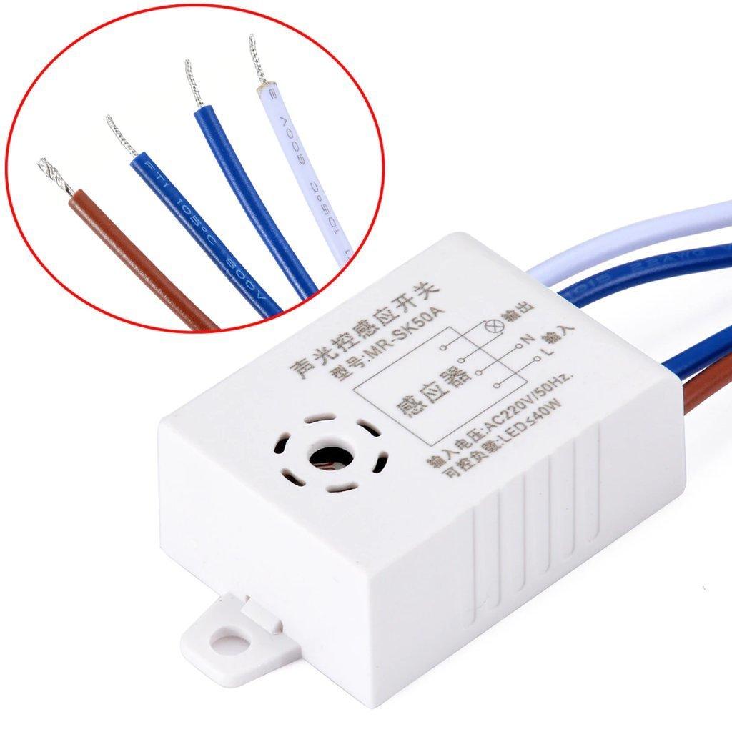 Sound  U0026 Light Sensor Switch For Automatic Light On Off